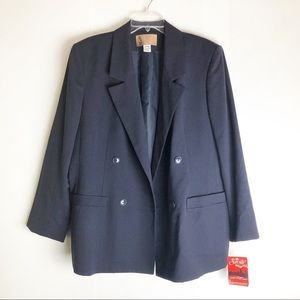 Vintage Oversized Double Breasted Navy Blazer 18W